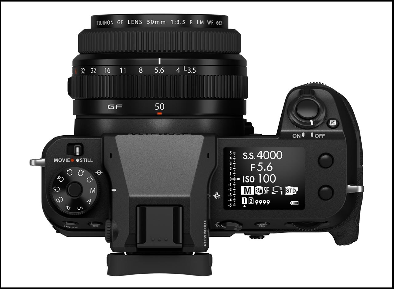 Fujifilm GFX50S II Top