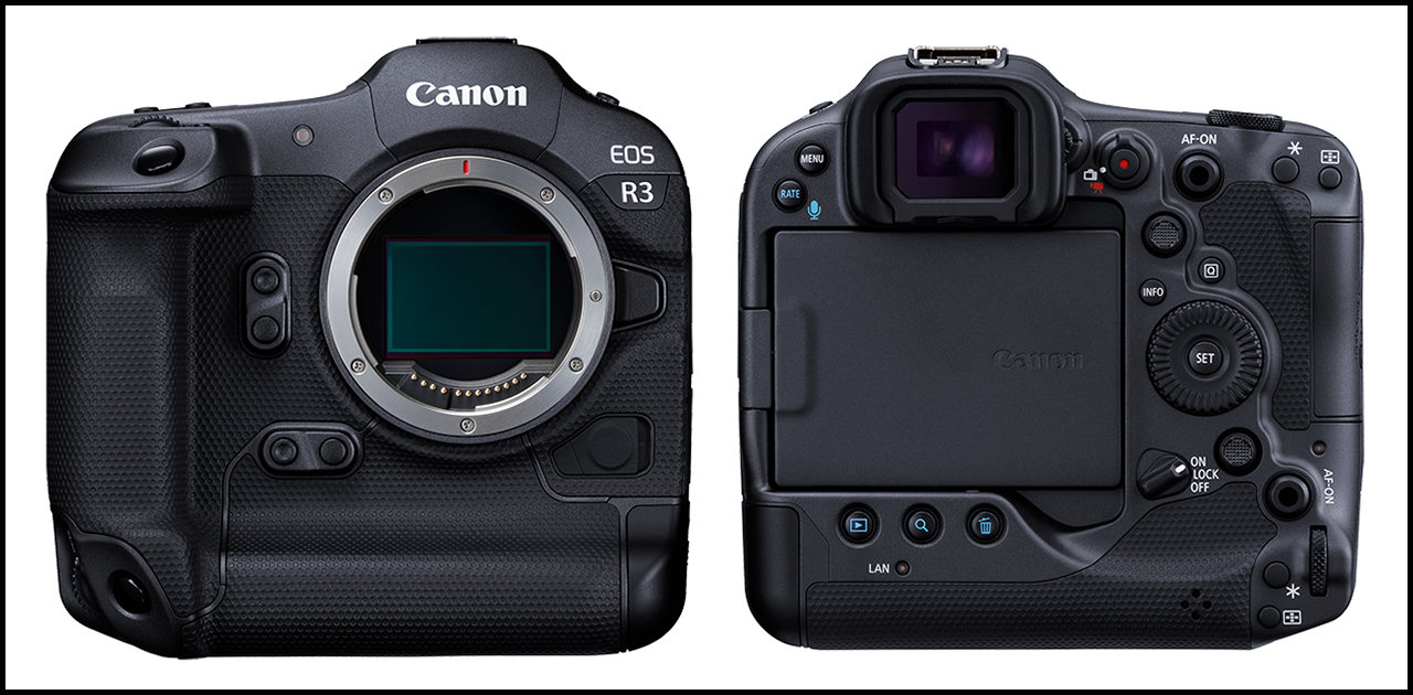 Canon EOS R3 Front and Back